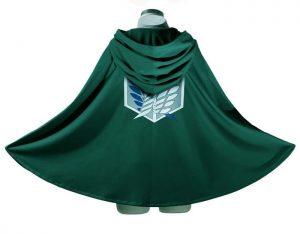 Attack On Titan Costume Green Cloak - Scout Legion Corp Cloak
