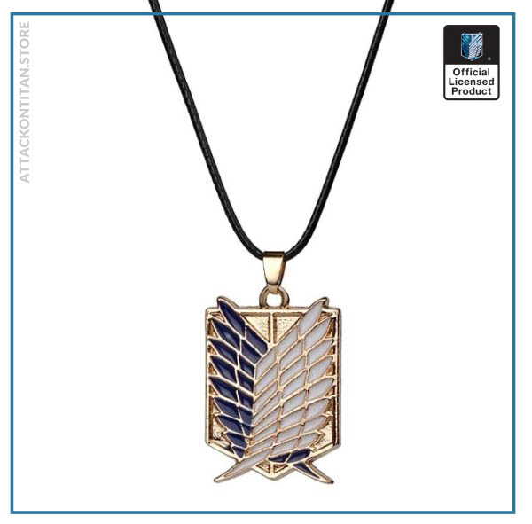 1pc Anime Attack on Titan alloy Necklace figure Toys Wings of Liberty Shingeki No Kyojin Leather 2 - Attack On Titan Store