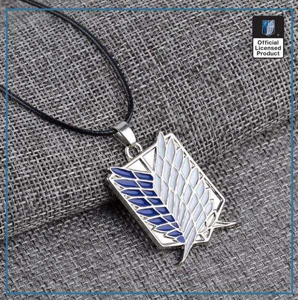 1pc Anime Attack on Titan alloy Necklace figure Toys Wings of Liberty Shingeki No Kyojin Leather 3 - Attack On Titan Store