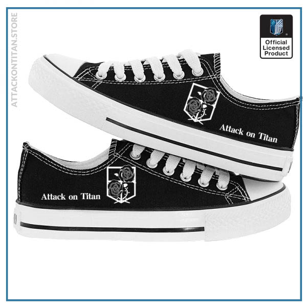 Anime Attack on Titan Print Canvas Shoes Casual Sneaker Shoes Sport Shoes Low top Shoes for 4 - Attack On Titan Store