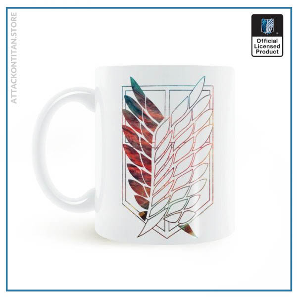 Attack On Titan Badge Logo Mug 11oz Coffee Ceramic Milk Tea Cup Boy Friends Gift 2 - Attack On Titan Store