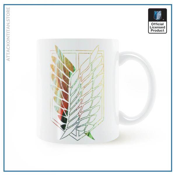 Attack On Titan Badge Logo Mug 11oz Coffee Ceramic Milk Tea Cup Boy Friends Gift 3 - Attack On Titan Store