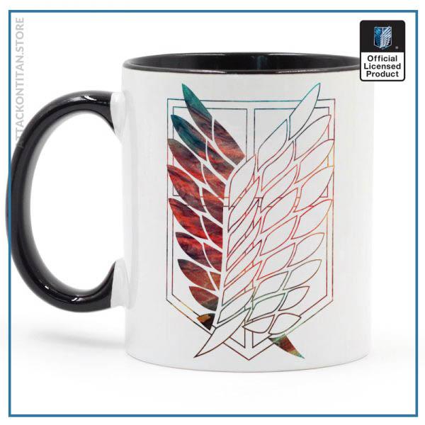 Attack On Titan Badge Logo Mug 11oz Coffee Ceramic Milk Tea Cup Boy Friends Gift - Attack On Titan Store