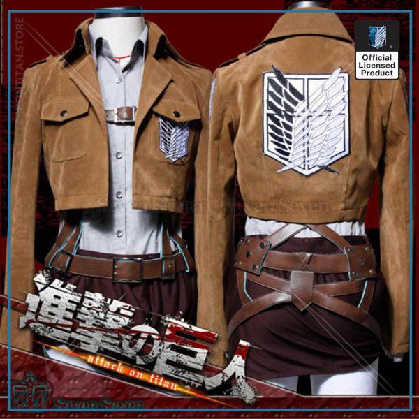 Attack on Titan Jacket Shingeki no Kyojin Legion Coat Cosplay Eren Levi Jacket Plus Size Free 3 - Attack On Titan Store