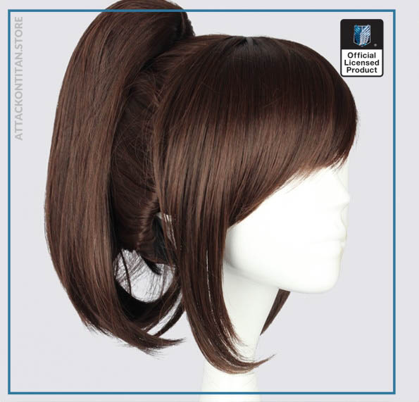 Attack on Titan Sasha Blouse 35cm 13 78 Short Straight Cosplay Wigs for Women Claw Clip 1 - Attack On Titan Store
