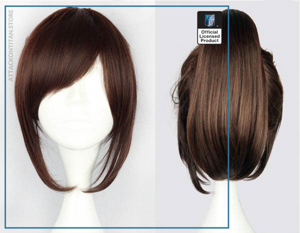Attack on Titan Sasha Blouse 35cm 13 78 Short Straight Cosplay Wigs for Women Claw Clip - Attack On Titan Store