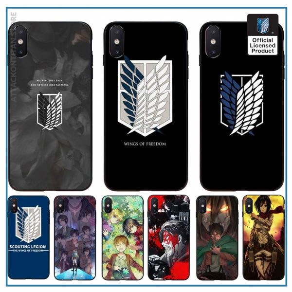 Yinuoda attack on titan DIY Printing Phone Case cover Shell For iPhone 11 8 7 6 - Attack On Titan Store