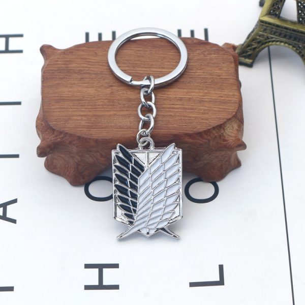 1Pcs Attack On Titan Keychain Shingeki No Kyojin Anime Wings of Liberty Key Chain Rings For 3 - Attack On Titan Store
