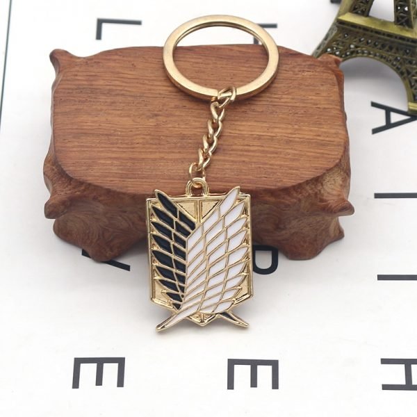 1Pcs Attack On Titan Keychain Shingeki No Kyojin Anime Wings of Liberty Key Chain Rings For 4 - Attack On Titan Store