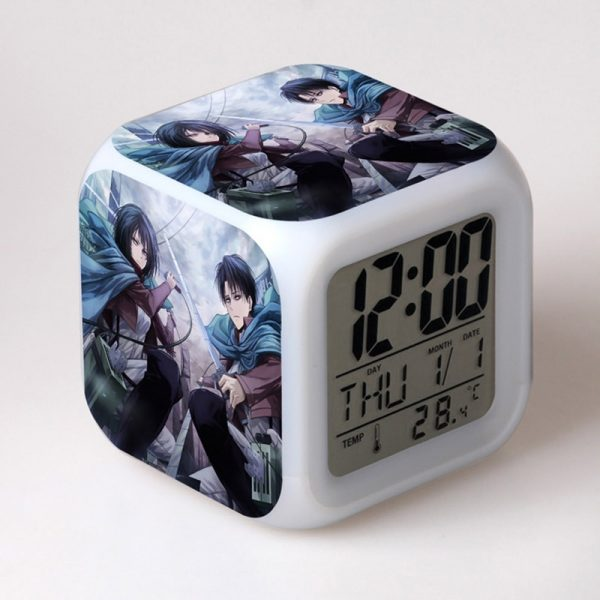 Anime toy Attack On Titan Ackerman 7 Colors Change Touch light Alarm Clock Action Figures for - Attack On Titan Store
