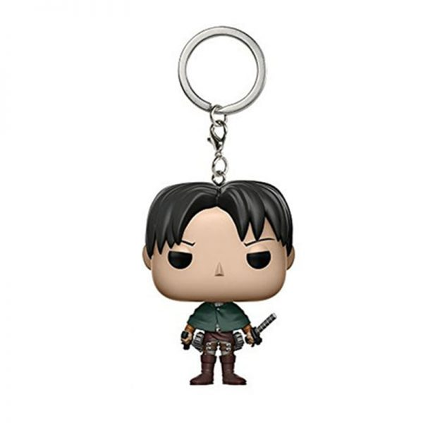 New Pocket Keychain Attack on Titan LEVI Ackerman Action Figure Levi Key Chain Collection Model Toy - Attack On Titan Store