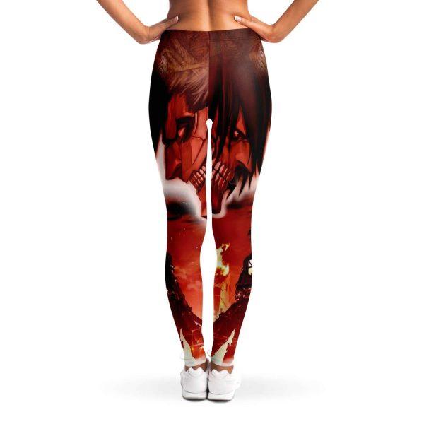 burning attack on titan premium leggings 325376 - Attack On Titan Store