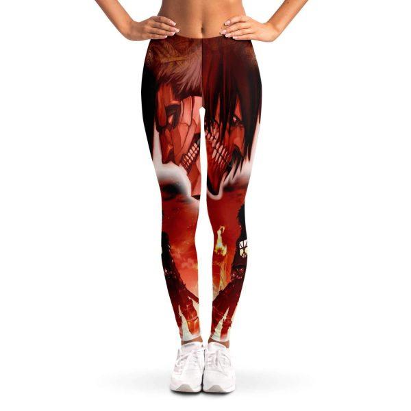 burning attack on titan premium leggings 694000 - Attack On Titan Store