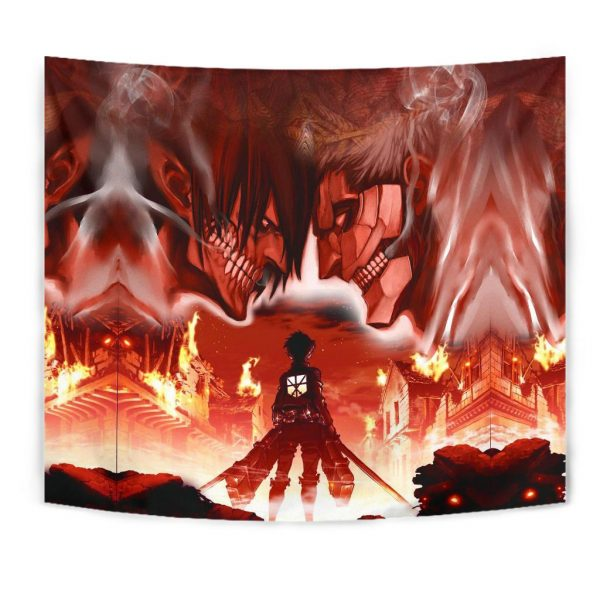 burning attack on titan tapestry 108880 - Attack On Titan Store