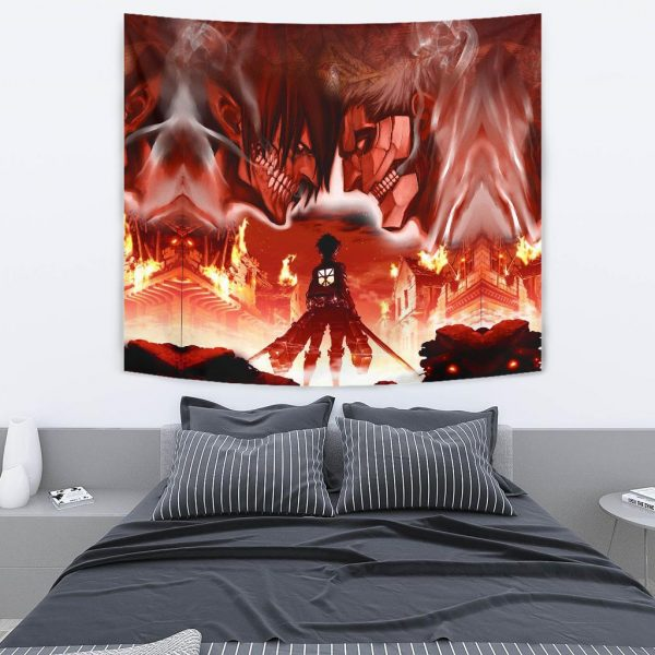 burning attack on titan tapestry 500863 - Attack On Titan Store