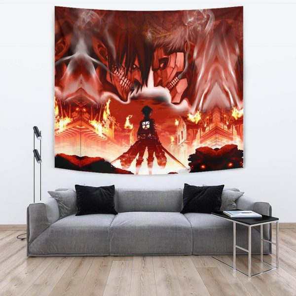 burning attack on titan tapestry 550807 - Attack On Titan Store