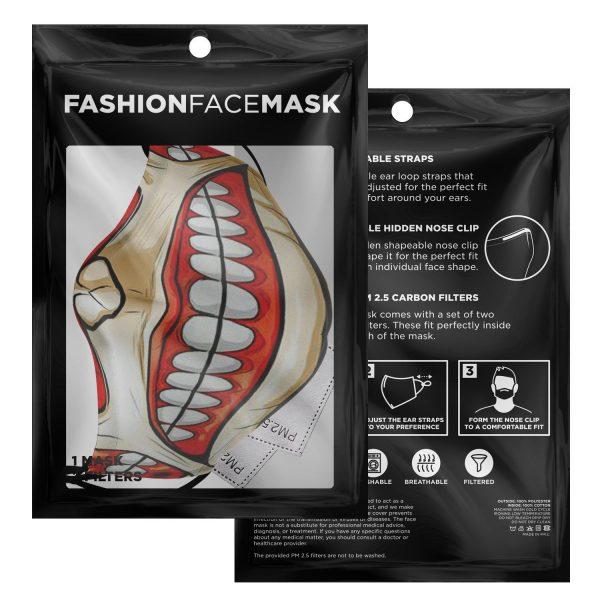 colossal titan attack on titan premium carbon filter face mask 945137 - Attack On Titan Store