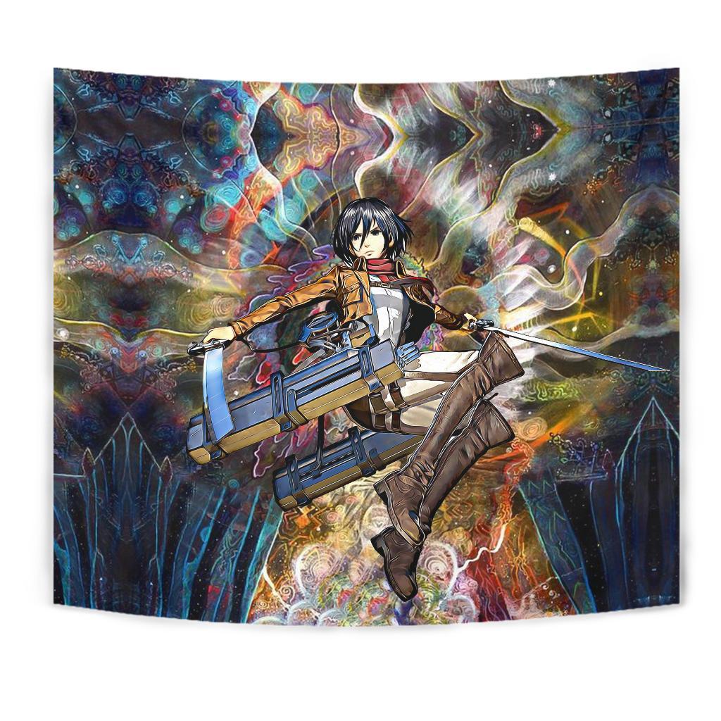 focused mikasa tapestry 471270 - Attack On Titan Store