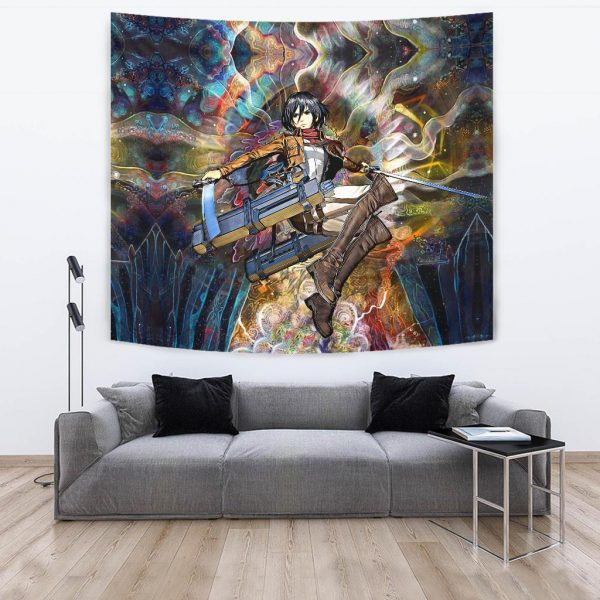 focused mikasa tapestry 718754 - Attack On Titan Store
