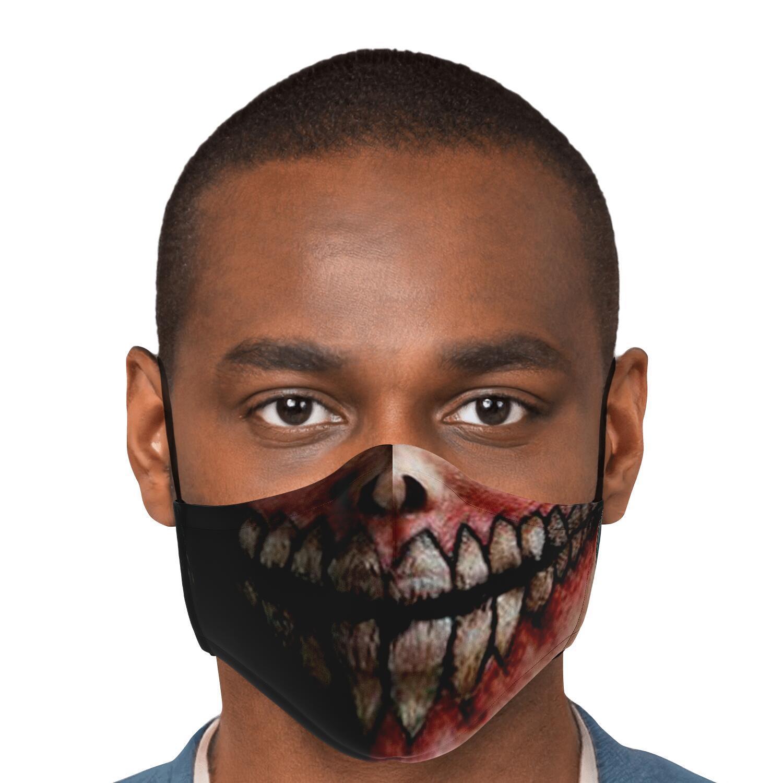 jaw titan v2 attack on titan premium carbon filter face mask 404975 - Attack On Titan Store