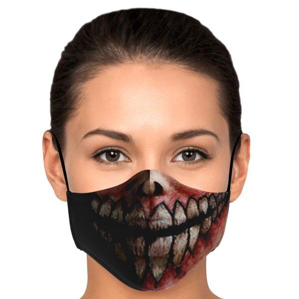 jaw titan v2 attack on titan premium carbon filter face mask 657695 - Attack On Titan Store