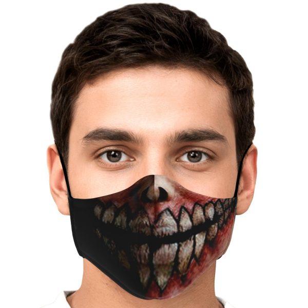 jaw titan v2 attack on titan premium carbon filter face mask 973745 - Attack On Titan Store