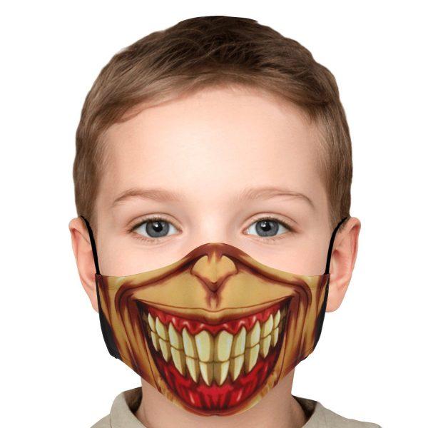 jaw titan v3 attack on titan premium carbon filter face mask 429163 - Attack On Titan Store