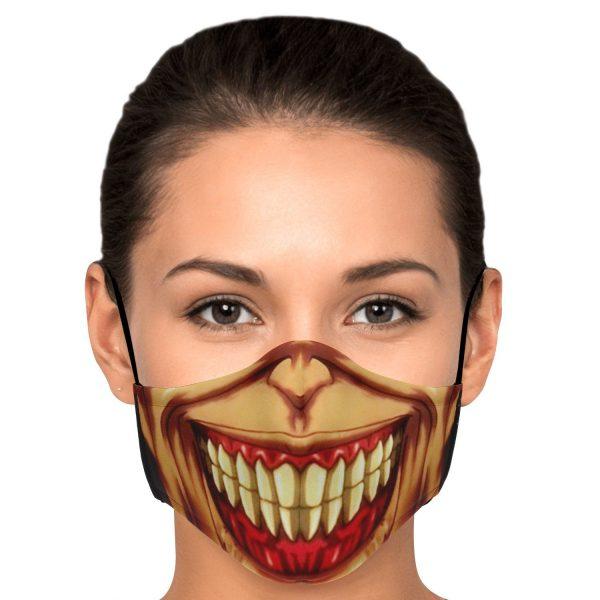 jaw titan v3 attack on titan premium carbon filter face mask 664039 - Attack On Titan Store