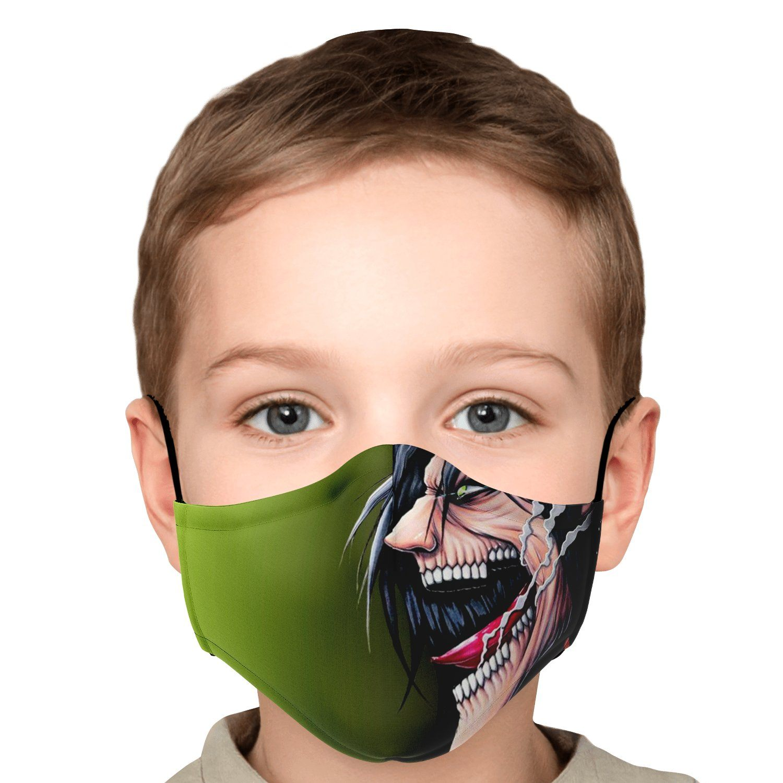 jaw titan v4 attack on titan premium carbon filter face mask 724543 - Attack On Titan Store