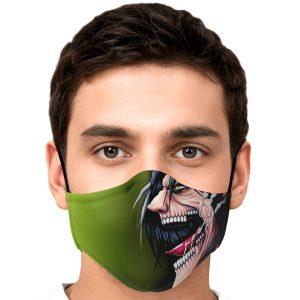 jaw titan v4 attack on titan premium carbon filter face mask 756501 - Attack On Titan Store