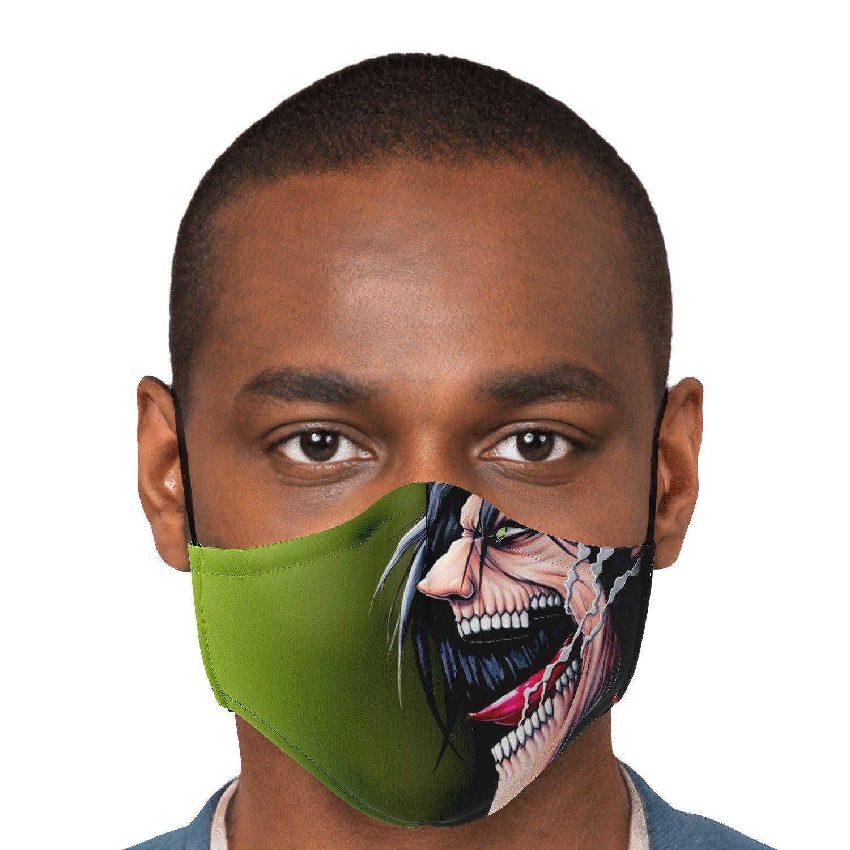 jaw titan v4 attack on titan premium carbon filter face mask 839165 - Attack On Titan Store
