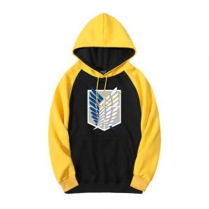 Attack on Titan Scout Regiment Emblem Colored Hoodie Official Attack On Titan Merch