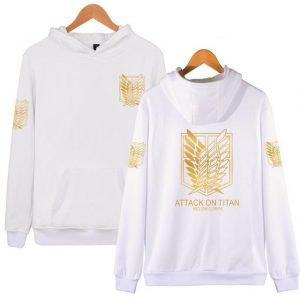 Attack On Titan Survey Corps Golden Emblem Hoodie Official Attack On Titan Merch