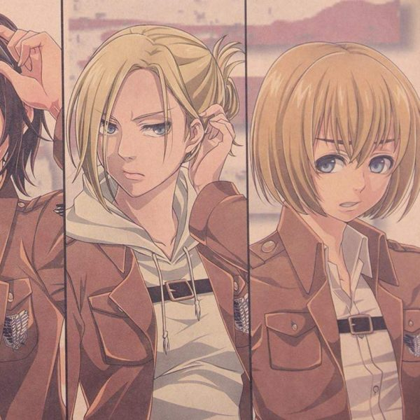 Attack on Titan Character Collection Poster Fans Attack On Titan Merch