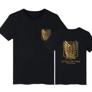 Attack On Titan Survey Corps Emblem T-Shirt Fans Attack On Titan Merch