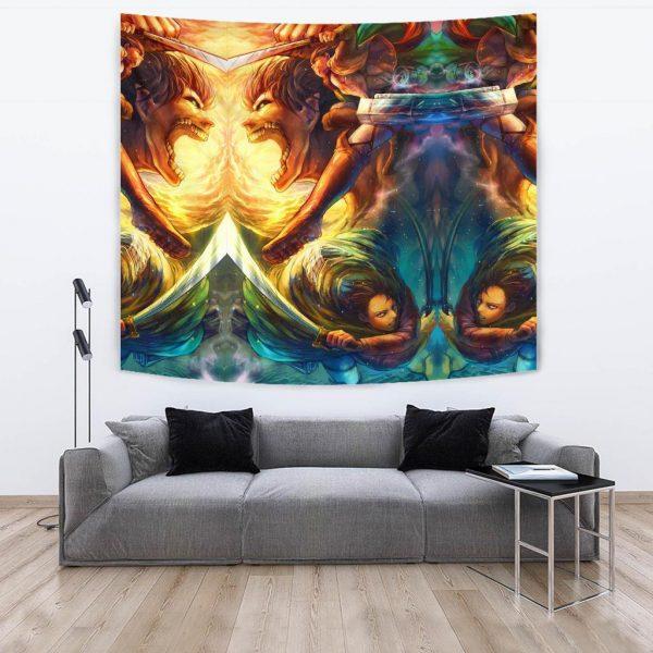 vibrant attack on titan tapestry 148228 - Attack On Titan Store
