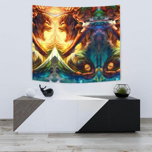 vibrant attack on titan tapestry 518151 - Attack On Titan Store