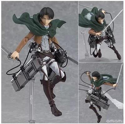 Anime Attack on Titan 15cm Eren Mikasa Ackerman Levi Rivaille Figma PVC Action Figure Model Toy 2 - Attack On Titan Store