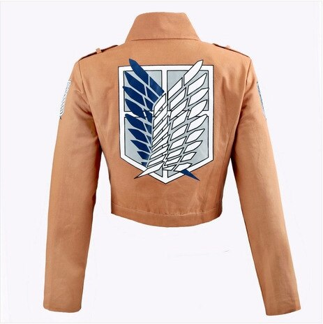 Attack On Titan Cosplay Costume Eren Jaeger Leather Skirt Mikasa Ackerman Suit Cloak Jacket Scout Regiment 1 - Attack On Titan Store