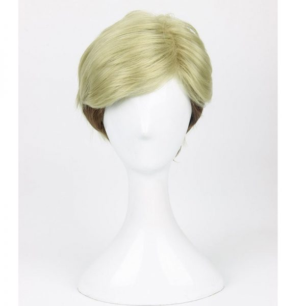 Attack on Titan Erwin Smith Wig Short Blonde Brown Ombre Color Cosplay Wig Wig Cap - Attack On Titan Store