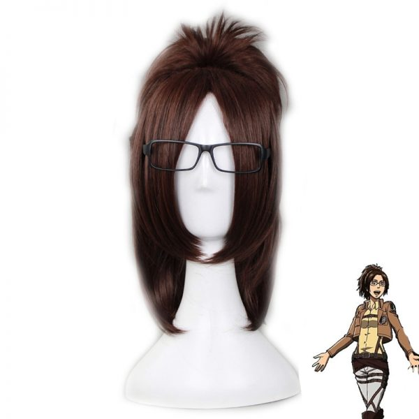 Attack on Titan Hans Zoe Short Straight Clip Ponytail Cosplay Wigs for Women Female Fake Hair - Attack On Titan Store