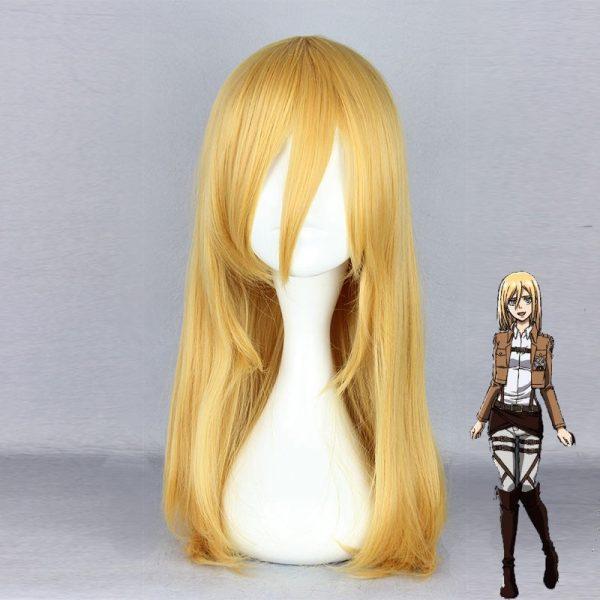 Attack on Titan Krista Lenz Christa Short Blonde Kyojin Renz Heat Resistant Cosplay Costume Wig - Attack On Titan Store
