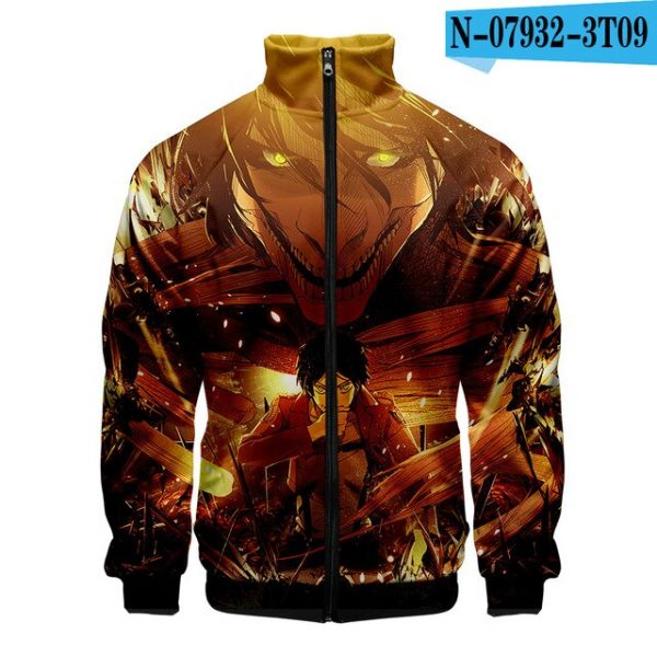 Newest 3D Stand Collar Zipper Jacket Attack on Titan Women Men Long Sleeve Sweatshirt 2020 Harajuku 2.jpg 640x640 2 - Attack On Titan Store