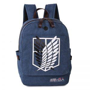 Attack on Titan Backpack Men Women Canvas Japan Anime Printing School Bag for Teenagers Travel Bags Mochila Galaxia BP0153