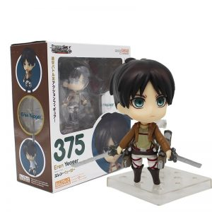 Gsc390# Levi Clay Doll Attack On Titan Action Model Toys For Children Eren Yeager Levi Ackerman Face Changing Collectible Figure