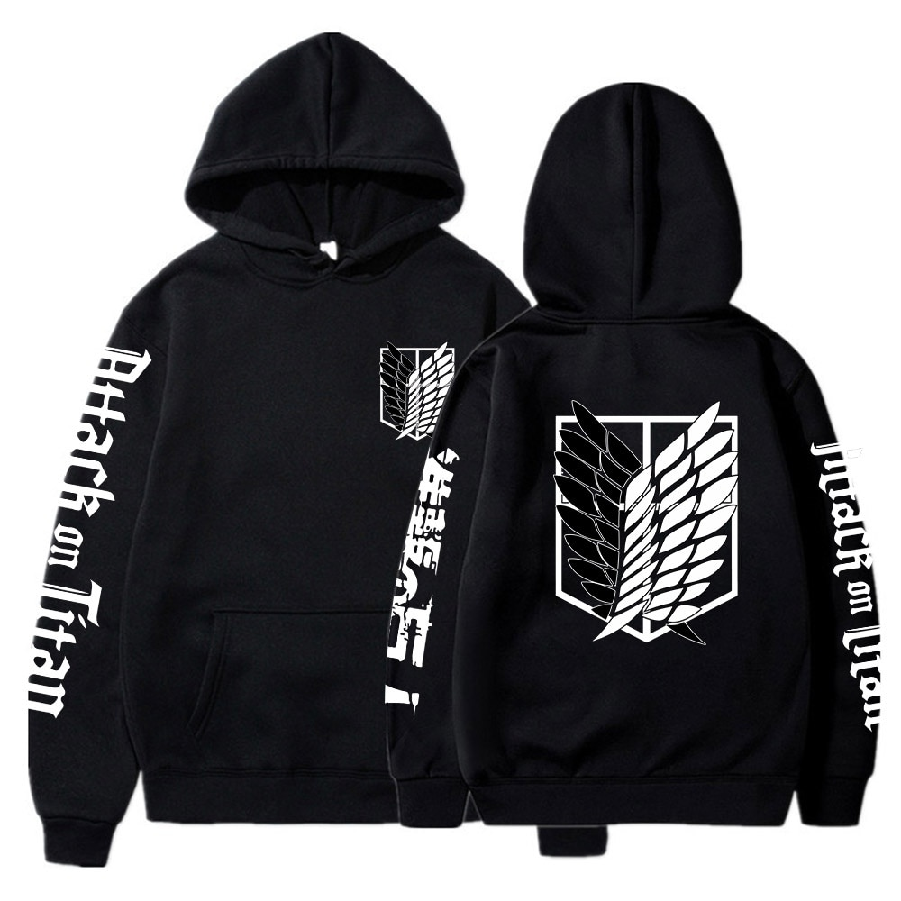 Attack On Titan AOT Merch Ackerman Levi Scout Regiment Printed Hoodies Hooded Sweatshirts Cozy Tops Pullovers