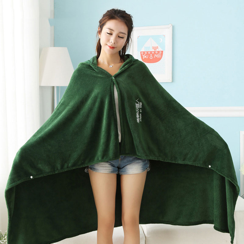 Attack On Titan Blanket - AOT Flannel Hoodie Cosplay Winter Cloak
